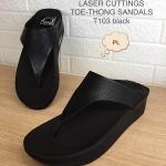 รองเท้าแตะแฟชั่น เพื่อสุขภาพ แบบหนีบ หนังสวยเก๋ พื้นซอฟคอมฟอตนิ่มสไตล์ฟิตฟลอบ ใส่สบาย แมทสวยได้ทุกชุด (T103)