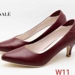 รองเท้าคัทชู ส้นเตี้ย สวยเรียบหรู หนังนิ่ม ทรงสวย ใส่สบาย ส้นสูงประมาณ 2 นิ้ว แมทสวยได้ทุกชุด