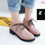 รองเท้าคัทชู ทรงบูทสวยเก๋ หนังแก้วเงาสวย แต่งเชือกผูก ใส่สบาย แมทเท่ห์ได้ทุกชุด (MK070)