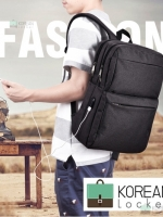 Back pack(กระเป๋าเป้ สะพายหลัง) BA063 สีดำ พร้อมส่ง