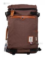 OZUKO Back pack(กระเป๋าเป้ สะพายหลัง) BA055 สีน้ำตาล พร้อมส่ง