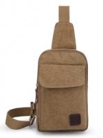 กระเป๋าคาด อก สะพายข้าง CR016 สี น้ำตาลอ่อน พร้อมส่ง