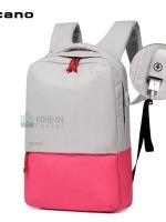 Back pack(กระเป๋าเป้ สะพายหลัง) BA071 สีชมพู พร้อมส่ง