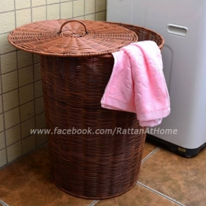 ตะกร้าผ้า หวายเทียม ถังหวายใส่ผ้า ตะกร้าผ้าซัก