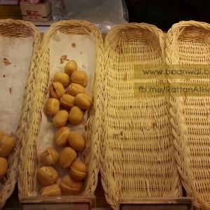 ตัวอย่างถาดหวายใส่ขนมปัง