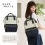 กระเป๋าเป้ Anello Cotton Navy (Standard) ผ้าคอตตอน สีทูโทน ขาวกรมท่า thumbnail 12
