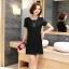 [พรีออเดอร์] เสื้้อเดรสแฟชั่นเกาหลีใหม่ แขนสั้น สำหรับผู้หญิงไซส์ใหญ่ - [Preorder] New Korean Fashion Dress Short-Sleeved for Large Size Woman thumbnail 3