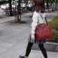 Large twoway Anello leather Shoulder Bag (สี red wine) สำเนา สำเนา สำเนา thumbnail 3