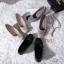 รองเท้าคัทชู ส้นเตารีด แต่งอะไหล่สไตล์แบรนด์สวยเรียบหรู หนังนิ่ม พื้นบุนิ่ม ทรงสวย สูงประมาณ 2 นิ้ว ใส่สบาย แมทสวยได้ทุกชุด (G318845) thumbnail 3