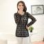 [พร้อมส่ง} เสื้้อแฟชั่นเกาหลีใหม่ สีดำ สีบานเย็น แขนยาว สำหรับผู้หญิงไซส์ใหญ่ 2XL- [In Stock] New Korean Fashion Shirt Long-Sleeved for Large Size Woman thumbnail 1