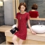 [พรีออเดอร์] เสื้้อเดรสแฟชั่นเกาหลีใหม่ แขนสั้น สำหรับผู้หญิงไซส์ใหญ่ - [Preorder] New Korean Fashion Dress Short-Sleeved for Large Size Woman thumbnail 2