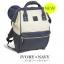 กระเป๋าเป้ Anello Leather Ivory Navy (Standard) หนัง PU กันน้ำ thumbnail 5