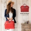 Large Anello Shoulder Boston Bag (สีแดง) thumbnail 4