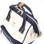 กระเป๋าเป้ Anello Cotton Navy (Standard) ผ้าคอตตอน สีทูโทน ขาวกรมท่า thumbnail 3