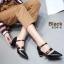 รองเท้าคัทชู ส้นเตี้ย รัดส้น แต่งเข็มขัดสวยเก๋ ทรงสวย หนังนิ่ม ใส่สบาย ส้นสูงประมาณ 2.5 นิ้ว แมทสวยได้ทุกชุด (8134-6) thumbnail 1