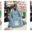 กระเป๋าเป้ Japan chic (กระเป๋าเป้สไตล์ญี่ปุ่น) สีฟ้า thumbnail 3