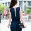 [พรีออเดอร์] ชุดเดรสกางเกงขาสั้นผู้หญิงแฟชั่นยุโรปใหม่ แขนกุด แบบเก๋ เท่ห์ - [Preorder] New European Fashion Sleeveless Pants Dress thumbnail 2