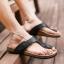 พรีออเดอร์ รองเท้าแตะหนัง PU เบอร์ 44-48 แฟชั่นเกาหลีสำหรับผู้ชายไซส์ใหญ่ เก๋ เท่ห์ - Preorder Large Size Men Korean Hitz Sandal thumbnail 2