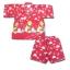 ชุดจิมเบอิ สีแดง ลาย Pokemon กับดอกทานตะวัน S90 thumbnail 1