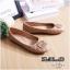 รองเท้าคัทชู ส้นแบน หัวมน เดินเส้นตารางนวมแต่งอะไหล่สวยเก๋สไตล์แบรนด์ หนังนิ่ม พื้นนิ่ม ทรงสวย ใส่สบาย แมทสวยได้ทุกชุด (G318902) thumbnail 1