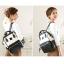 กระเป๋าเป้ Anello Leather Ivory black (Standard) หนัง PU กันน้ำ thumbnail 3
