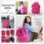 New!! กระเป๋าเป้ Anello Canvas Shocking Pink (Standard) ผ้าโพลีเอสเตอร์แคนวาส กันน้ำ thumbnail 5
