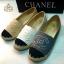 รองเท้าผ้าใบแฟชั่น Chanel สุดชิค แต่งโลโก้ CC พื้นตัดขอบเชือกถัก หนังนิ่ม พื้นบุนุ่ม สวมใส่สบาย thumbnail 2
