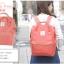 กระเป๋าเป้ Anello coral pink (Standard) ผ้าโพลีเอสเตอร์แคนวาส กันน้ำ thumbnail 1