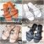 รองเท้าแตะแฟชั่น แบบสวม แต่งหนังเส้นลายฉลุสวยเก๋สไตล์แอร์เมส หนังนิ่ม ทรงสวย ใส่สบาย แมทสวยได้ทุกชุด (MR27) thumbnail 5