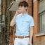 พรีออเดอร์ เสื้อเชิ้ตทำงานแฟชั่นเกาหลีสำหรับผู้ชาย แขนสั้น เก๋ เท่ห์ - Preorder Men Korean Hitz Slim Short-sleeved Shirt thumbnail 1
