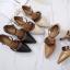 รองเท้าคัทชู ส้นเตี้ย รัดส้น แต่งเข็มขัดสวยเก๋ ทรงสวย หนังนิ่ม ใส่สบาย ส้นสูงประมาณ 2.5 นิ้ว แมทสวยได้ทุกชุด (8134-6) thumbnail 4