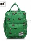 Back pack(กระเป๋าเป้ สะพายหลัง) BA043 สี เขียวโปโล พร้อมส่ง