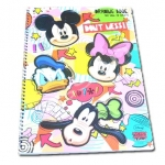 สมุดวาดเขียนสันห่วงใหญ่ สีขาว ลาย Mickey Mouse & Friends