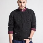 พรีออเดอร์ เสื้อ Sweater อก 52.36 นิ้ว สำหรับผู้ชายไซส์ใหญ่ แขนยาว เก๋ เท่ห์ - Preorder Large Size Men Hitz Long-sleeved Sweater