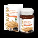 Orysamin ผสานคุณค่า แกมม่า ออริซานอล จากจมูกข้าวและรำข้าวญี่ปุ่น กับ สารสกัดเซซามินจากงาดำ ด้วยเทคโนโลยีชั้นสูงดึงสารสกัดเฉพาะสาระสำคัญที่เต็มคุณค่าและทรงประสิทธิภาพ เพิ่มไขมันดี ลดคลอเรสเตอรอล