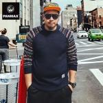 พรีออเดอร์ เสื้อ Sweater อก 53.15 นิ้ว สำหรับผู้ชายไซส์ใหญ่ แขนยาว เก๋ เท่ห์ - Preorder Large Size Men Hitz Long-sleeved Sweater