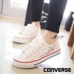 รองเท้าผ้าใบ STYLE CONVERS สุคชิค ดีไซน์ผ้าลูกไม้ซีทรู สวยเก๋ ที่กำลังฮอตฮิตมากในตอนนี้ ทรงสวย ใส่นิ่ม เดินสบาย สูง 1 นิ้ว