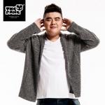 พรีออเดอร์ เสื้อแจีคเก็ตกันหนาว แฟชั่นเกาหลีสำหรับผู้ชายไซส์ใหญ่ แขนยาว เก๋ เท่ห์ - Preorder Large Size Men Korean Hitz Long-sleeved Autumn T-Shirt