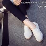 รองเท้าผ้าใบ งานนำเข้า ทรง slip on คลาสสิค แบบเรียบๆ เก๋ๆ แต่สวมใส่แล้วดูดี ใส่ได้กับทุกชุด สีขาว ชมพู