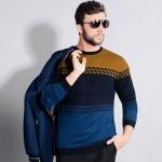 พรีออเดอร์ เสื้อไหมพรมกันหนาวสำหรับผู้ชายไซส์ใหญ่ แขนยาว เก๋ เท่ห์ - Preorder Large Size Men Hitz Long-sleeved Sweater