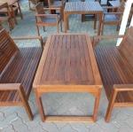 """ชุดโต๊ะม้านั่งระแนง นั่งเล่นในสนามหญ้า """"บางกอก"""""""