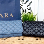 Zara Quilted Leather Cross body bag