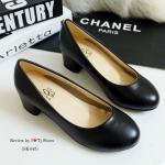 รองเท้าคัทชู หนังนิ่ม ทรงสวย ใส่แล้วดูดี ดูสุภาพ ใส่ได้เรื่อยๆ หลายโอกาส สูง 1.5 นิ้ว สีดำ