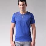 พรีออเดอร์ เสื้อยืดแฟชั่นอเมริกา และยุโรปสไตล์ สำหรับผู้ชาย แขนสั้น เก๋ เท่ห์ - Preorder Men American and European Hitz Style Slim Short-sleeved T-Shirt