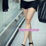 กางเกงคลุมท้องขาสั้น ปลายขาหยักเป็นคลื่น สีดำ
