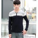 พรีออเดอร์ เสื้อยืดแฟชั่นเกาหลีสไตล์ สำหรับผู้ชาย แขนยาว เก๋ เท่ห์ - Preorder Men Korean Hitz Style Slim Long-sleeved T-Shirt
