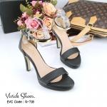 รองเท้าแฟชั่น Style ZARA ส้นสูง วัสดุหนัง Saffiano แบบสวมคาด รัดส้น เพิ่มความเก๋ ดูสวยไฮ ด้วยอะไหล่คาดเส้นสีทอง ตัวอะไหล่สีเงา ตกแต่งสี เรียบ เน้นแมทส์ชุดเข้าสีง่าย ใส่ได้หลายสไตล์ ตัวหนังสวยและนิ่มใส่สบาย สวยปัง สูงหลัง 4 นิ้ว ด้านหน้า 0.5 นิ้ว สีดำ ครีม