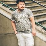 พรีออเดอร์ เสื้อยืด แฟชั่นเกาหลีสำหรับผู้ชายไซส์ใหญ่ อก 51.97 นิ้ว แขนสั้น เก๋ เท่ห์ - Preorder Large Size Men Korean Hitz Short-sleeved T-Shirt
