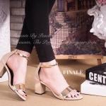 รองเท้าแฟชั่น ส้นตัน ZARA style ทรงเปิดหน้า หนังอย่างดี ทรงสวย Classic ดูดี แต่งอะไหล่ทองเพิ่มความเก๋ ซิปหลังสวมใส่ง่าย สบาย พื้นนิ่มอย่างดี มีสไตล์ ให้คุณสาวๆ ไม่ว่าจะแมทชุดไหน ก็สวย สูง 3 นิ้ว