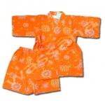 ชุดจิมเบอิ สีส้ม ลายดอกไม้ไฟ S110